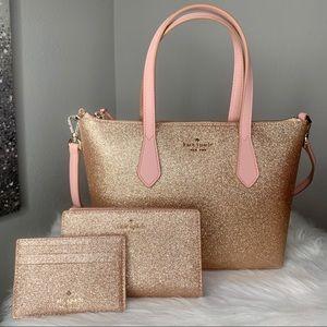 ⭐️ Kate Spade Joeley Small Satchel Glitter Set ⭐️